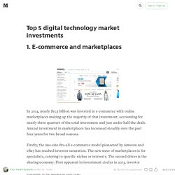 Top 5 digital technology market investments