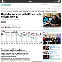 Digital teknik slår ut hälften av alla yrken i Sverige