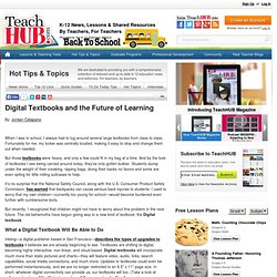 Digital Textbooks and the Future of Learning