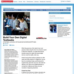 Build Your Own Digital Textbooks
