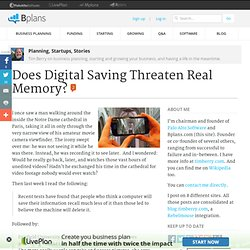Does Digital Saving Threaten Real Memory?