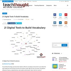 21 Digital Tools To Build Vocabulary -
