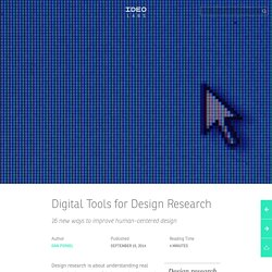 Digital Tools for Design Research