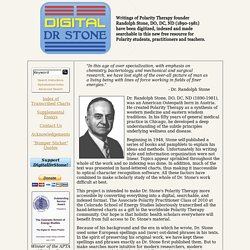 The Digital Dr. Stone - The Transcribed Texts of Dr. Randolph Stone