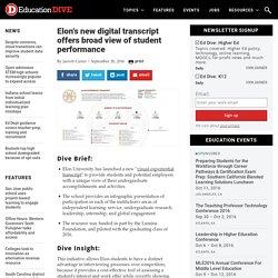 Elon's new digital transcript offers broad view of student performance
