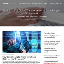 How to make Digital Transformation a Boon for your Company?