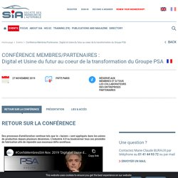 Digital et Usine du futur au coeur de la transformation du Groupe PSA - SIA