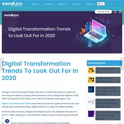 Digital Transformation Trends to Look Out For in 2020