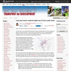 ​Using open tools to create the digital map of Cairo's public transit