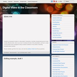 Digital Video in the Classroom