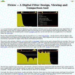 A Digital Filter Design, Viewing and Comparison tool