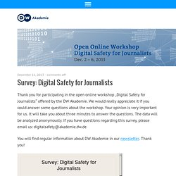 Open Online Workshop – Safety For Journalists