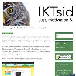 """Gör egna digitala böcker på dator-alternativ från """"små till stora barn"""" – IKTsidan"""