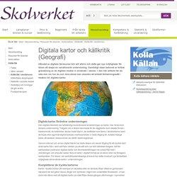 Digitala kartor och källkritik