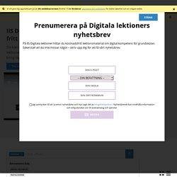 Digitala lektioner Skolämne: Svenska