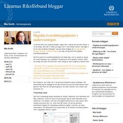 Digitala översättningstjänster i undervisningen - Mia Smith
