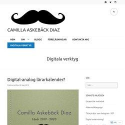 Digitala verktyg – Camilla Askebäck Diaz