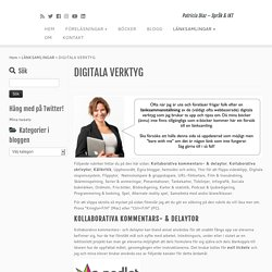 DIGITALA VERKTYG – Patricia Diaz