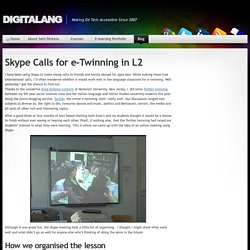 DigitaLang » Skype Calls for e-Twinning in L2
