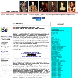 World's Virtual Library (165,000+ FREE eBooks, eTexts, On-Line Books, eDocuments)