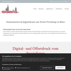 Digitaldruck & Visitenkarten in Wien