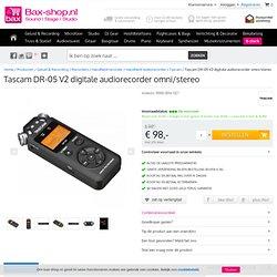 Tascam DR-05 V2 digitale audiorecorder omni/stereo kopen?