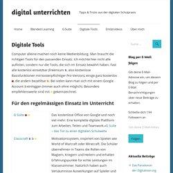 Digitale Tools – digital unterrichten