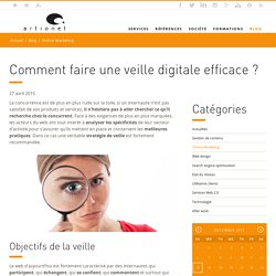 Comment faire une veille digitale efficace ? Artionet Web Agency