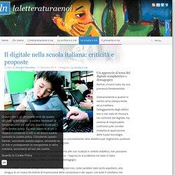Il digitale nella scuola italiana: criticità e proposte