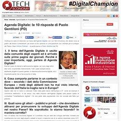 Le 10 risposte di Paolo Gentiloni (PD)