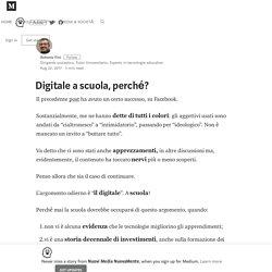 Digitale a scuola, perché? – Nuovi Media NuovaMente