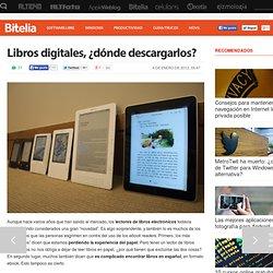 Libros digitales, ¿dónde descargarlos?
