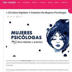 + 20 libros digitales y gratuitos de mujeres psicólogas