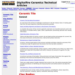 Reference Database: Technical articles for traditional ceramics