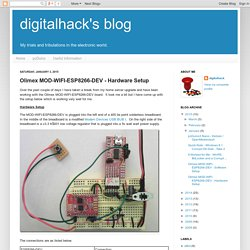 digitalhack's blog: Olimex MOD-WIFI-ESP8266-DEV - Hardware Setup