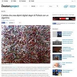 L'artista che crea dipinti digitali degni di Pollock con un algoritmo