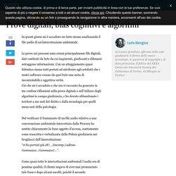 Prove digitali, bias cognitivi e algoritmi - Carlo Blengino