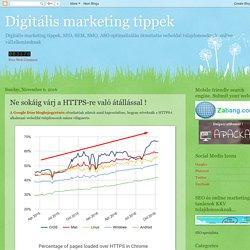 Digitális marketing tippek: Ne sokáig várj a HTTPS-re való átállással !