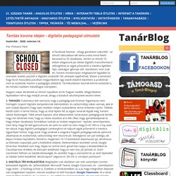 Tanítás korona idején - digitális pedagógiai útmutató