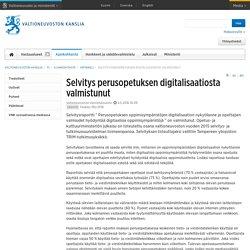 Selvitys perusopetuksen digitalisaatiosta valmistunut - Artikkeli - Valtioneuvoston kanslia