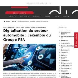 Digitalisation du secteur automobile : l'exemple du Groupe PSA