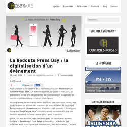 La Redoute Press Day : la digitalisation d'un événement