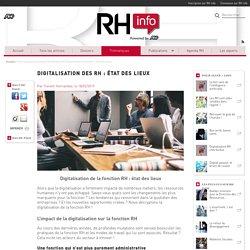 Digitalisation de la fonction RH : état des lieux