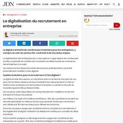 La digitalisation du recrutement en entreprise