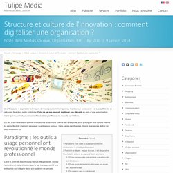 Structure et culture de l'innovation : comment digitaliser une organisation ?