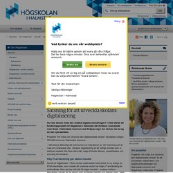 Satsning för att utveckla skolans digitalisering - Högskolan i Halmstad