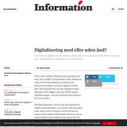 Digitalisering med eller uden ånd?
