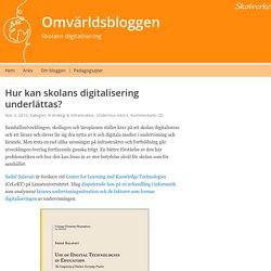 Hur kan skolans digitalisering underlättas? – Omvärldsbloggen