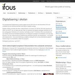Digitalisering i skolan - ifous.se
