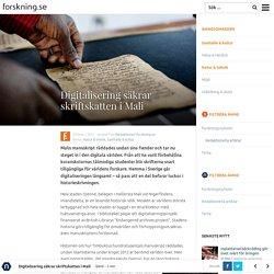 Digitalisering säkrar skriftskatten i Mali